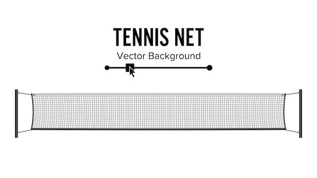 Fondo de red de tenis
