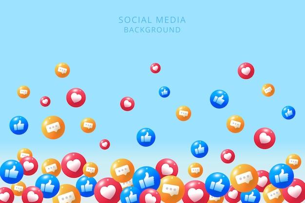 Fondo de redes sociales