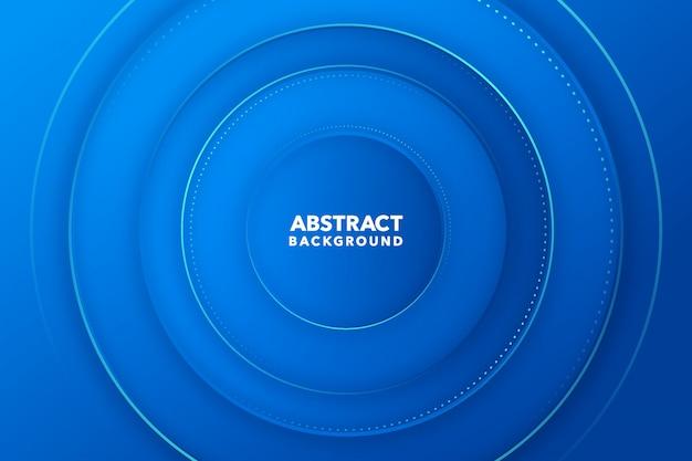 Fondo redondo abstracto moderno azul