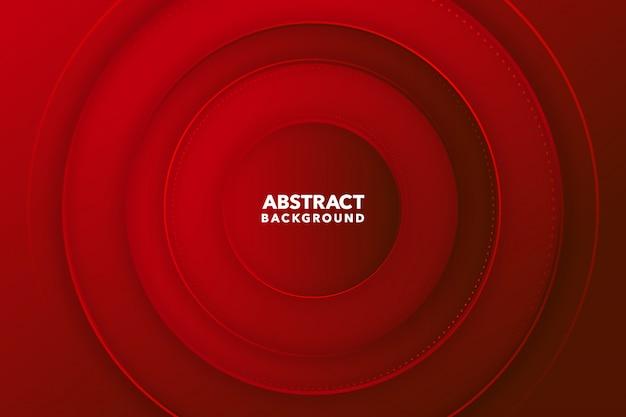 Fondo redondo abstracto moderno rojo