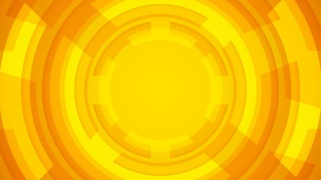 Fondo redondo moderno con color naranja.