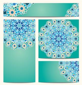 Fondo redondo ornamento geométrico colorido mosaico