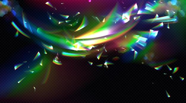 Fondo de reflexión de destello de prisma