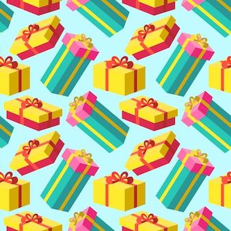 Fondo de regalo brillante de navidad