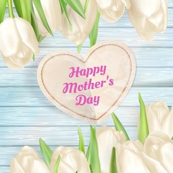 Fondo de regalo del día de las madres.