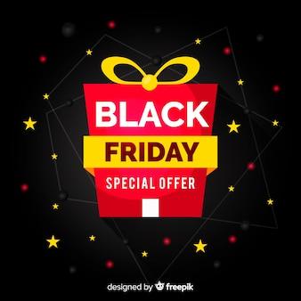 Fondo de regalo de viernes negro plano