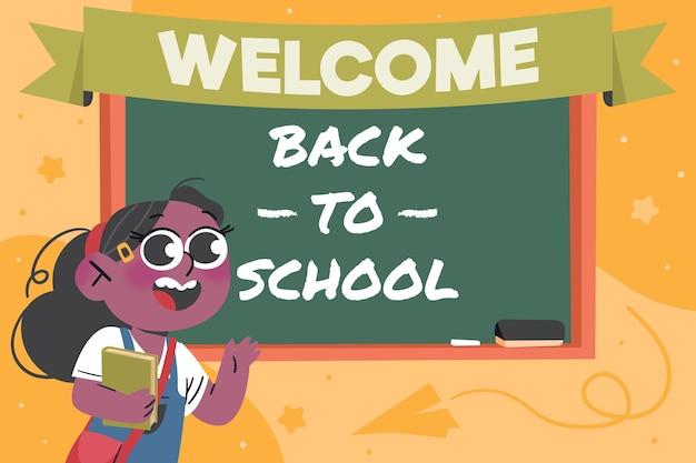 Fondo de regreso a la escuela dibujado a mano