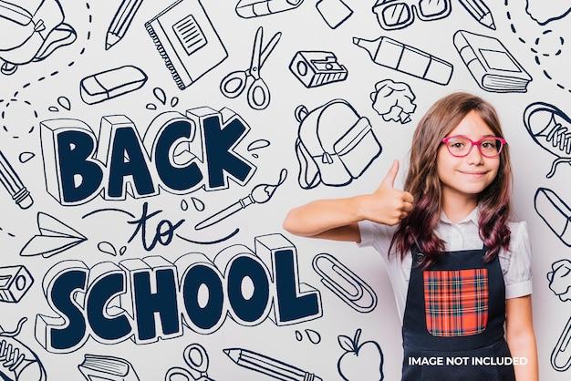 Fondo de regreso a la escuela elementos handrawn
