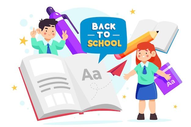 Fondo de regreso a la escuela con libros