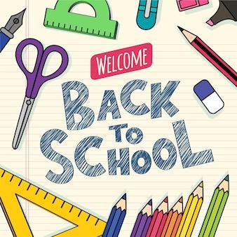 Fondo de regreso a la escuela con lo esencial