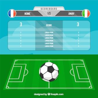 Fondo de resultado de fútbol