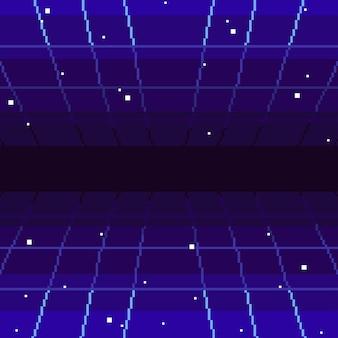 Fondo retro abstracto de los años 80 del arte del pixel. gráficos vectoriales eps 10.