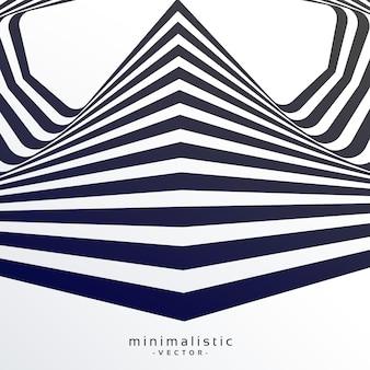 Fondo retro abstracto con rayas blancas y negras