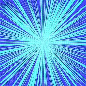 Fondo retro del arte pop de los rayos del sol