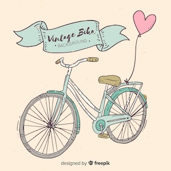 Fondo retro de bicicleta