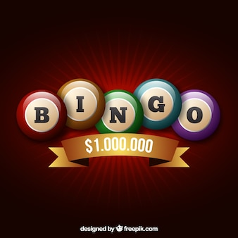 Fondo retro de bolas de bingo