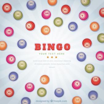 Fondo retro con bolas de bingo