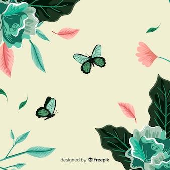 Fondo retro de botánica