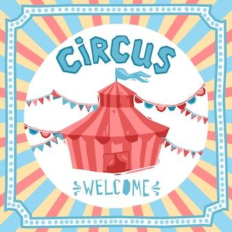 Fondo retro del circo