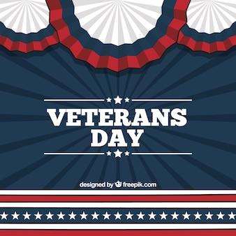 Fondo retro del día de los veteranos