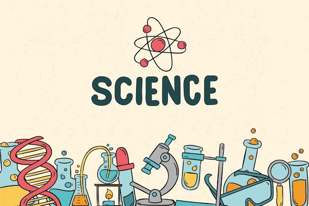 Fondo retro de educación científica
