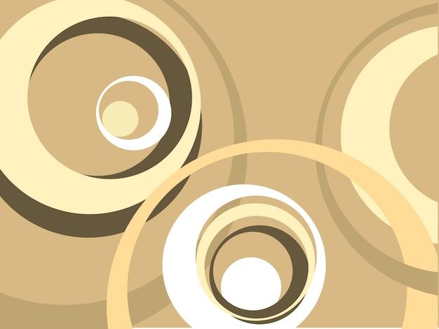 Fondo retro con formas circulares onduladas