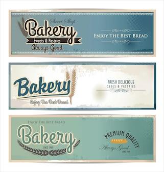 Fondo retro panadería