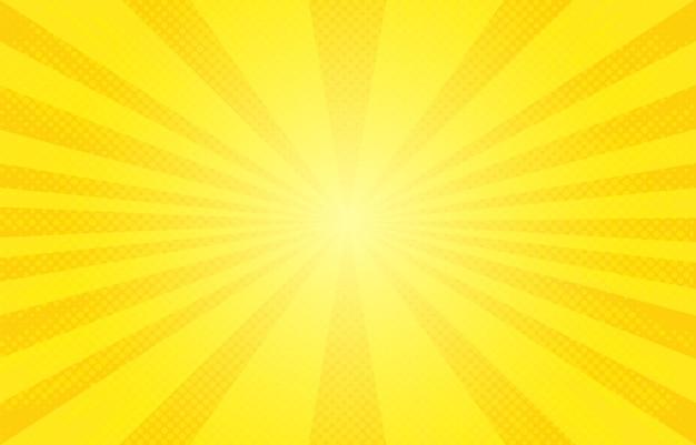 Fondo retro de semitono amarillo abstracto