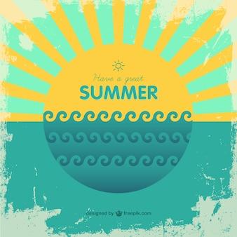 Fondo retro de vacaciones de verano