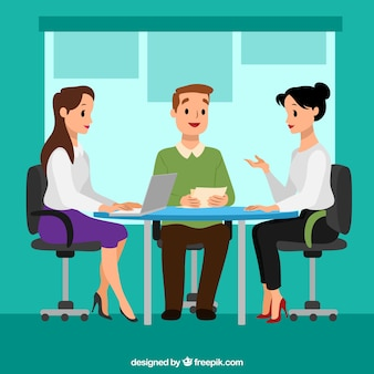 Fondo de reunión con mujeres de negocios