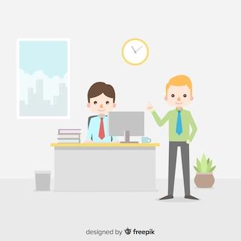 Fondo reunión oficina plano