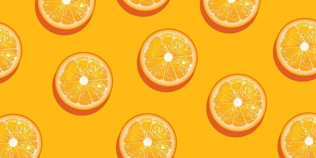 Fondo de rodaja de fruta naranja