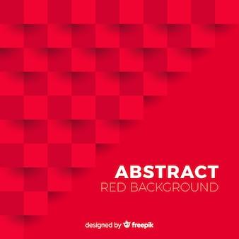 Fondo rojo abstracto con estilo elegante