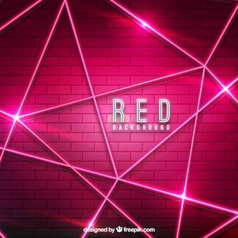 Fondo rojo abstracto con luces de neón