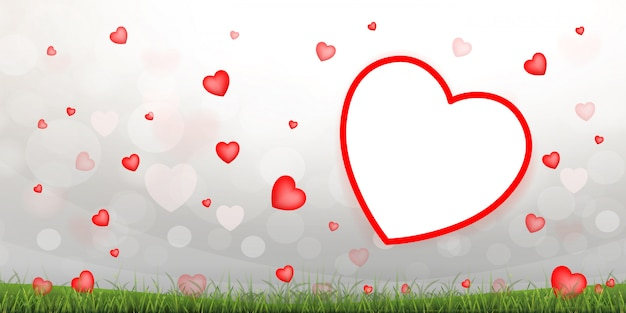 Fondo rojo abstracto del corazón.