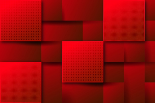 Fondo rojo abstracto cuadrado moderno