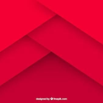 Fondo rojo abstracto con diseño plano