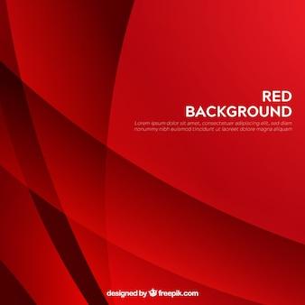 Fondo rojo abstracto moderno con formas