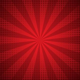 Fondo rojo abstracto del resplandor solar