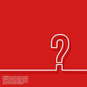 Fondo rojo abstracto con signo de interrogación