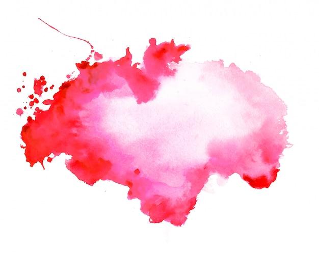 Fondo rojo abstracto de la textura de la mancha de la acuarela
