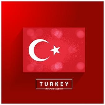 Fondo rojo con la bandera de turquía