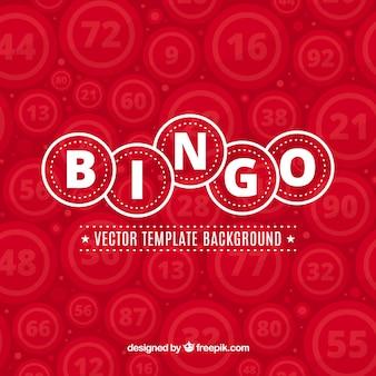 Fondo rojo de bingo