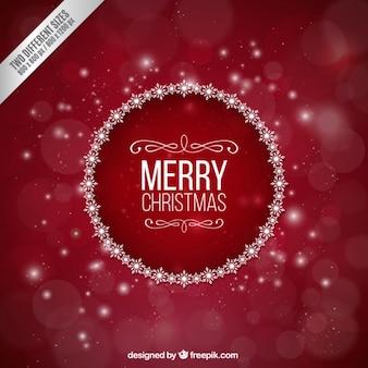 Fondo rojo borroso de navidad