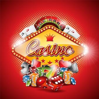 Fondo rojo de casino