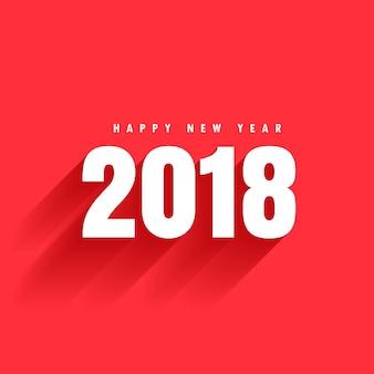 Fondo rojo con texto 2018 y sombra
