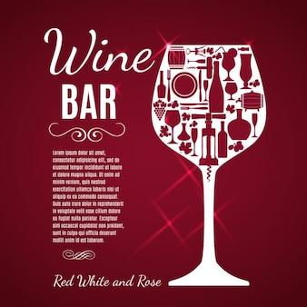 Fondo rojo de copa de vino