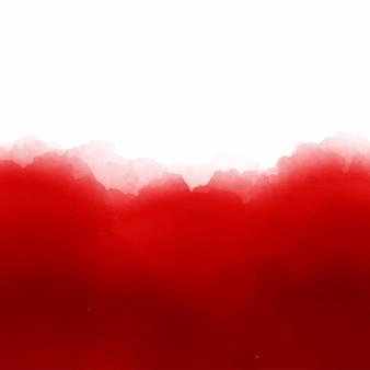 Fondo rojo de acuarela con espacio