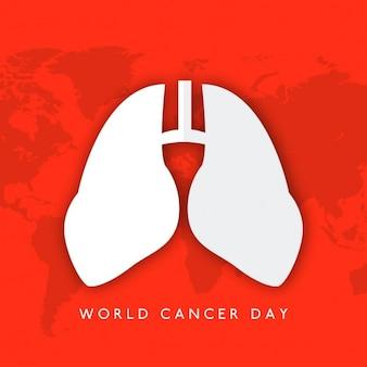 Fondo rojo para el día mundial del cancer