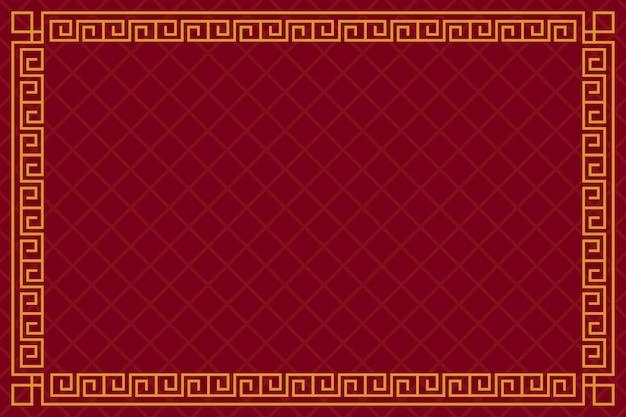 Fondo rojo y dorado año nuevo chino